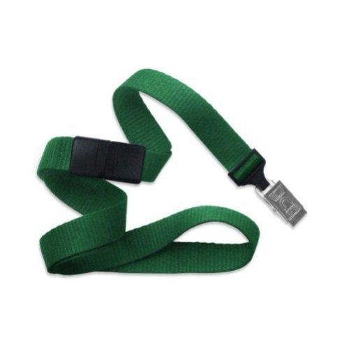 Green Microweave Break-Away Lanyard with NPS Bulldog Clip - 100pk (MYID21386004) Image 1