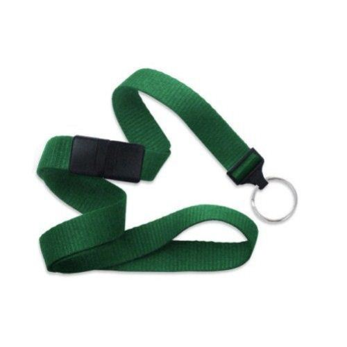 Green Microweave Break-Away Lanyard with NPS Split Ring - 100pk (MYID21383654) Image 1