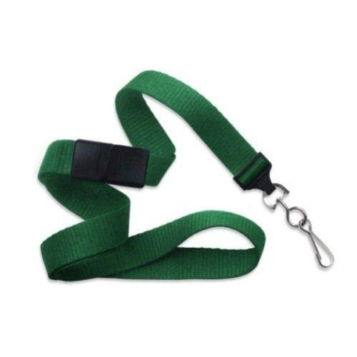 Green Microweave Break-Away Lanyard with NPS Swivel Hook - 100pk (2138-5004) Image 1