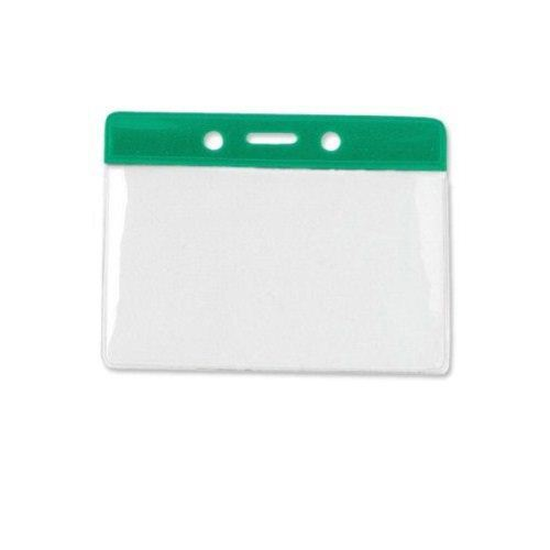 Green Military Size Horizontal Color-Bar Badge Holders - 100pk (1820-1104) Image 1