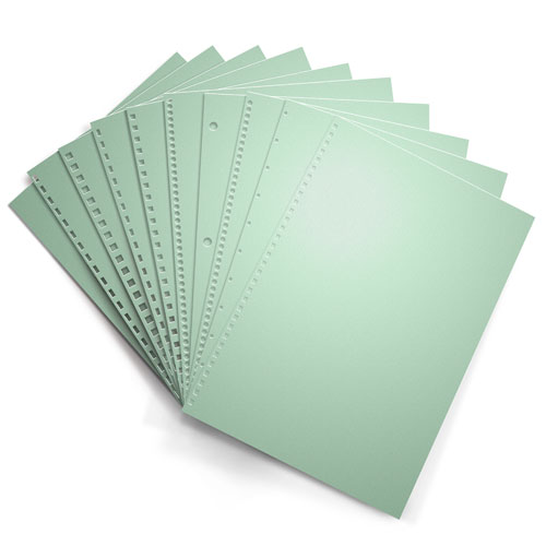 Pastel Green 20lb Punched Binding Paper - 500 Sheets (PPP20DMGR), MyBinding brand Image 1