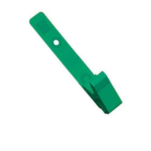 Green Plastic Straps with Knurled Thumb-Grip Clips - 100pk (2115-2004) Image 1