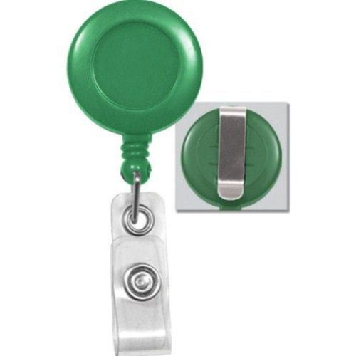 Green Round Badge Reel with Belt Clip - 25pk (2120-3034) - $23.59 Image 1