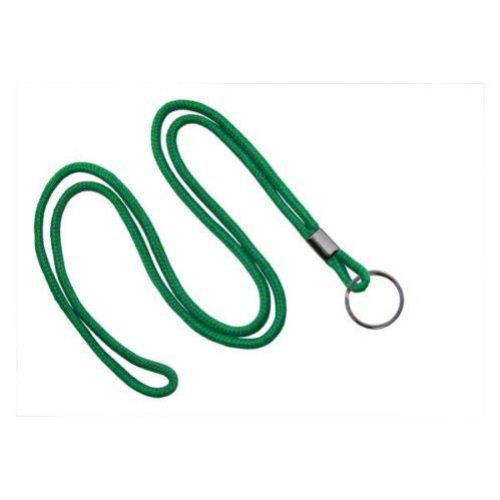 Green Round Braid Lanyard with Black Split Ring - 1000pk (MYID21353154), MyBinding brand Image 1