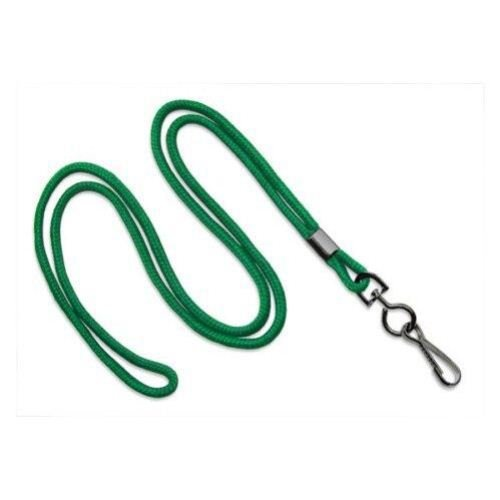 Green Round Braid Lanyard with Black Swivel Hook - 1000pk (MYID21353074), MyBinding brand Image 1