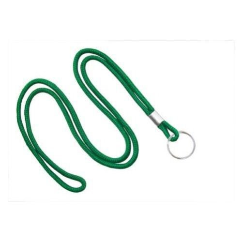 Green Round Braid Lanyard with NPS Split Ring - 100pk (MYID21353104) Image 1