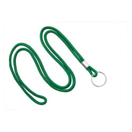 Green Round Braid Lanyard with NPS Split Ring - 100pk (MYID21353104), MyBinding brand Image 1