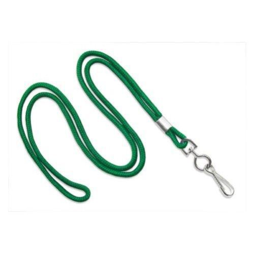 Green Round Braid Lanyard with NPS Swivel Hook - 100pk (MYID21353004), MyBinding brand Image 1