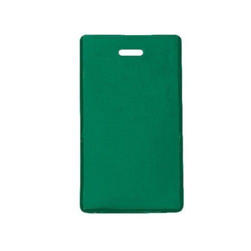 Green Semi-Rigid Vinyl Luggage Tag Holders - 100pk (1845-2004), MyBinding brand Image 1