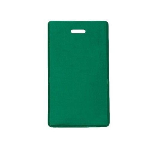 Green Semi-Rigid Vinyl Luggage Tag Holders - 100pk (1845-2004) Image 1
