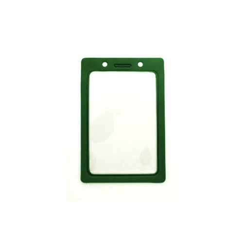 "Green Vertical Vinyl Color-Frame Badge Holder (3-7/16"" x 2-1/4"") - 100pk (MYBP407NGRN), MyBinding brand Image 1"