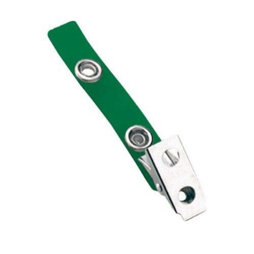 Green Vinyl Straps with 2-Hole Smooth Face Clips - 100pk (2105-2004), MyBinding brand Image 1