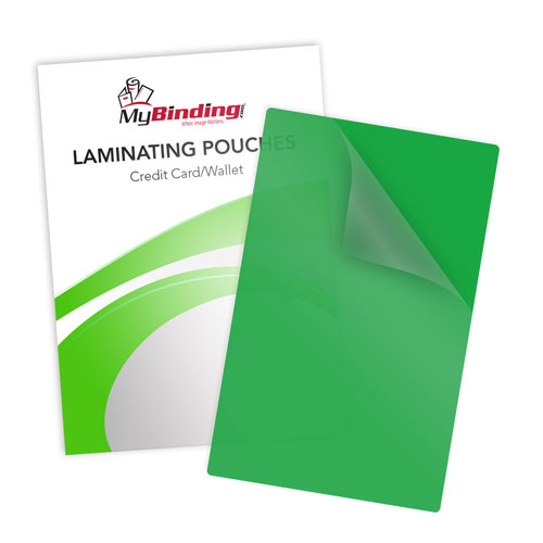 Green 10mil Credit Card Laminating Pouches - 100pk (LKLP10CREDITGR)