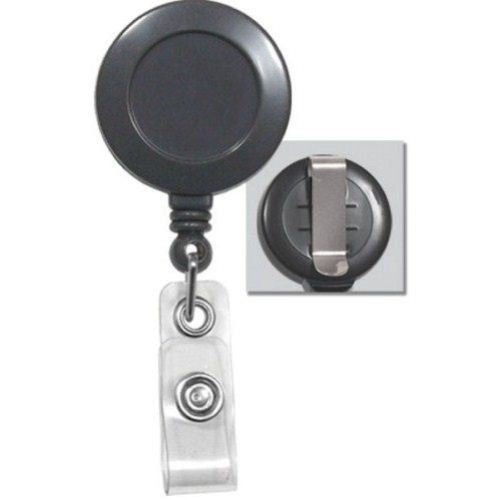 Grey Round Badge Reel with Belt Clip - 25pk (2120-3040) Image 1