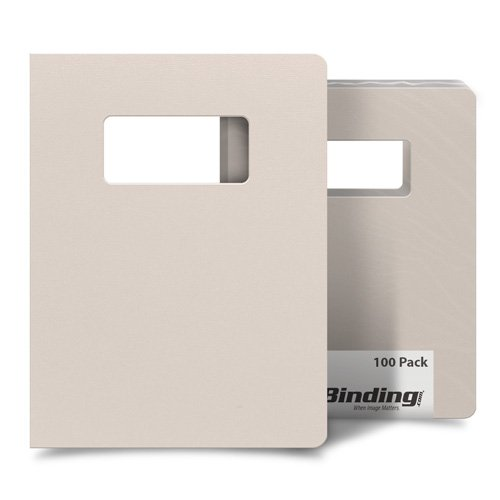 "Grumpy Gray 8.75"" x 11.25"" Card Stock Covers with Windows - 100 Sets (MYCS8.75X11.25GGW) Image 1"