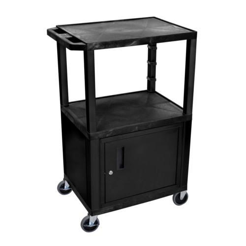 High Tuffy Utility Cart with Cabinet Image 1