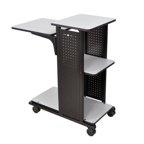 H. Wilson Mobile Presentation Station with 4 Shelves (No Outlet) (WPS4) Image 1