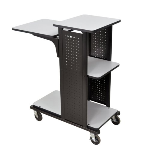 H. Wilson Mobile Presentation Station with 4 Shelves and Heavy Duty Casters (No Outlet) (WPS4HD) Image 1