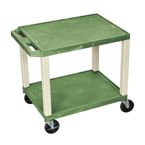 "H. Wilson Green 24.5"" High Tuffy Utility A/V Cart (2-Shelf Putty Legs) (WT26GE) - $97.41 Image 1"
