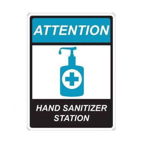 "Hand Sanitizer Station 9"" x 12"" Repositionable Signage - 5/Pack (MYBCCSHS9X12)"