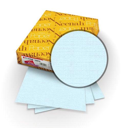 "Neenah Paper Haviland Blue 80lb 11"" x 17"" Classic Linen Cover - 25pk (MYCLIN11X17HB) Image 1"