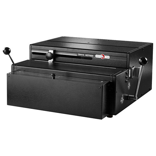 "Rhin-O-Tuff HD7000 Onyx 14"" Open-Ended Table Top Electric Punch (HD7000-ONYX) Image 1"