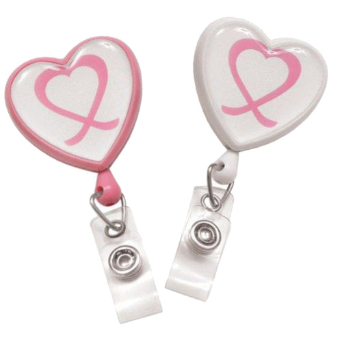 Heart Shaped Awareness Badge Reel Image 1