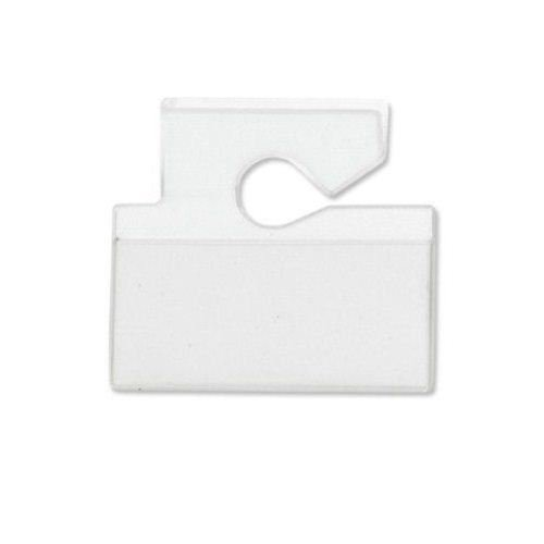 Horizontal Top Load Vinyl Hang Tag Vehicle Tag Holder 100pk (VM-3H) Image 1