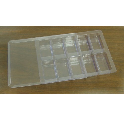 "Howard TT-3 6"" x 8"" Plastic Type/Spacer Tray with Cover (HD-TT-3) - $6.25 Image 1"