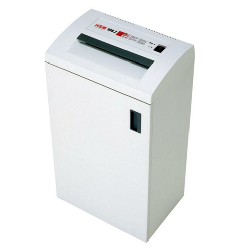 HSM 108.2 Level P-2 Strip Cut Office Paper Shredder (1663)