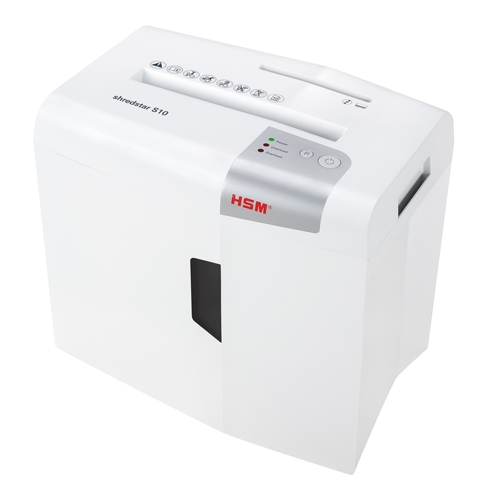HSM Shredstar S10 Level P-2 Strip-Cut Shredder with CD Slot (HSM1042w) Image 1