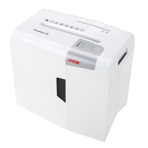 HSM Shredstar X5 Level P-4 Cross-Cut Shredder with CD Slot (HSM1043w) Image 1