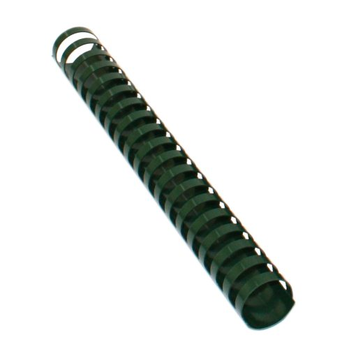 Hunter Green 15 Ring Half Size Plastic Binding Combs (MYPCFGH) Image 1