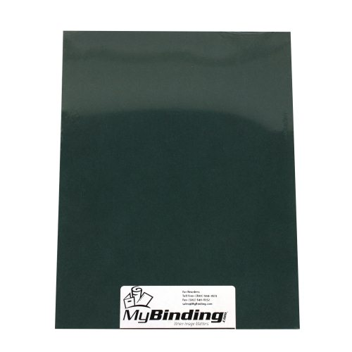 "Hunter Green Grain 8.5"" x 11"" Covers (50pk) (9743869X)"