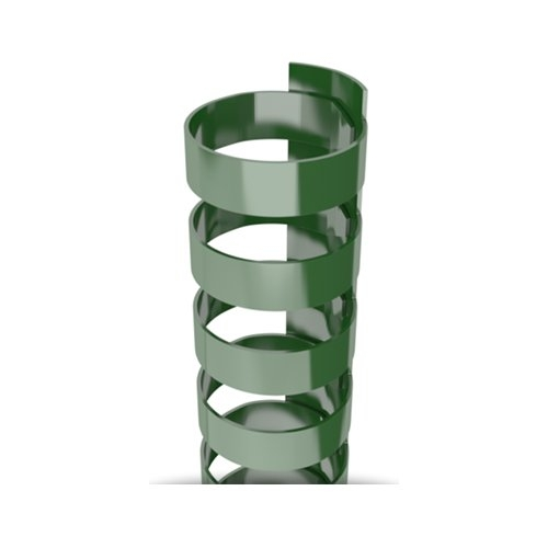 "1/2"" Hunter Green Plastic 24 Ring Legal Binding Combs - 100pk (TC120LEGALHG) Image 1"