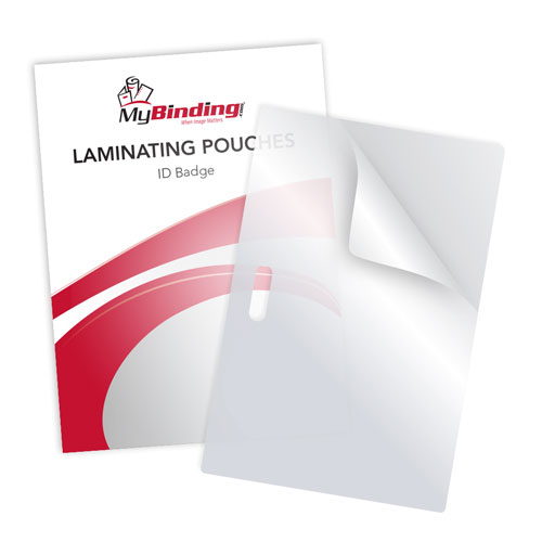 ID Badge Size Laminating Pouches with Long Side Slot - 100pk (IDBSLPWLSS-100PK) Image 1