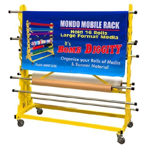 Mondo Raxx Media Roll Mobile Rack (MMR1600) Image 1