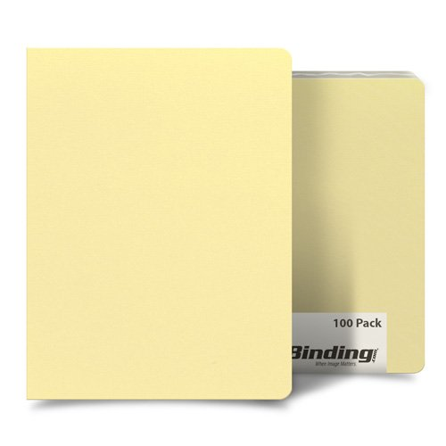 "Inspired Ivory 8.75"" x 11.25"" Card Stock Covers - 100pk (MYCS8.75X11.25VY) Image 1"