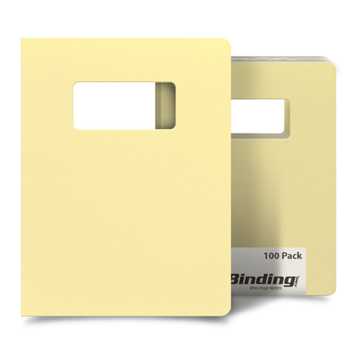 "Inspired Ivory 8.75"" x 11.25"" Card Stock Covers with Windows - 100 Sets (MYCS8.75X11.25VYW) Image 1"