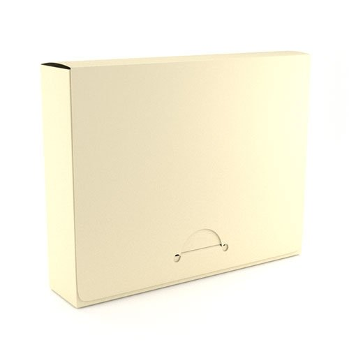 "1"" Letter Ivory Poly Document Boxes (MYPDB100IV), Binding Covers Image 1"