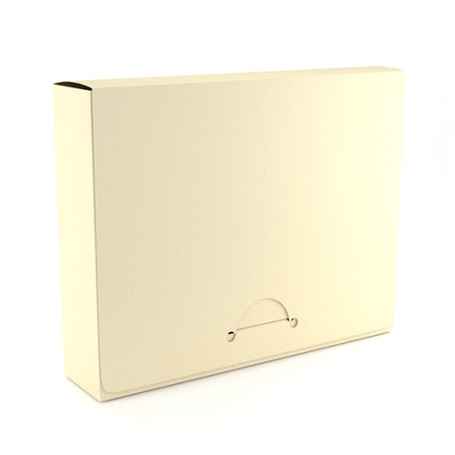 """1.5"""" Legal Ivory Poly Document Boxes (MYPDBL150IV) Image 1"""