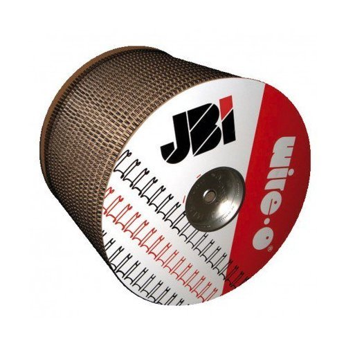 "James Burn Wire-O 1"" Black 2:1 Pitch Double Loop Ring Wire Spool (4600 Loops) (91JB1SPLBLK)"