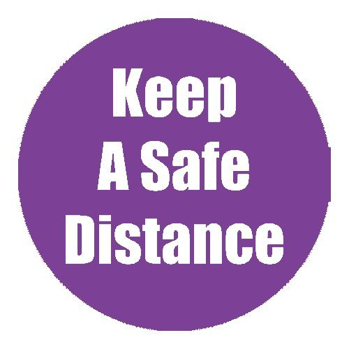 "Flipside ""Keep a Safe Distance"" Purple 11"" Round Non-Slip Floor Stickers - 5pk (FS-97078), Flipside brand Image 1"