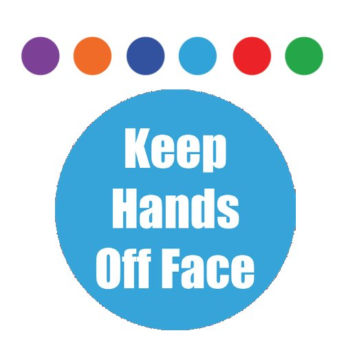 "Flipside ""Keep Hands Off Face"" 11"" Round Non-Slip Floor Stickers - 5pk (FS-11RNSFS-KHOF) - $50 Image 1"