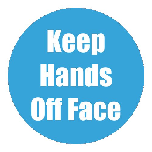 "Flipside ""Keep Hands Off Face"" Cyan 11"" Round Non-Slip Floor Stickers - 5pk (FS-97082) - $50 Image 1"