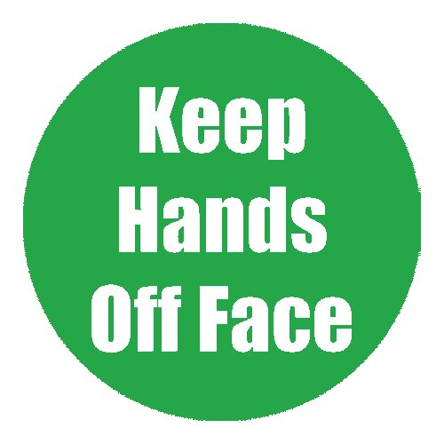 "Flipside ""Keep Hands Off Face"" Green 11"" Round Non-Slip Floor Stickers - 5pk (FS-97086) - $50 Image 1"