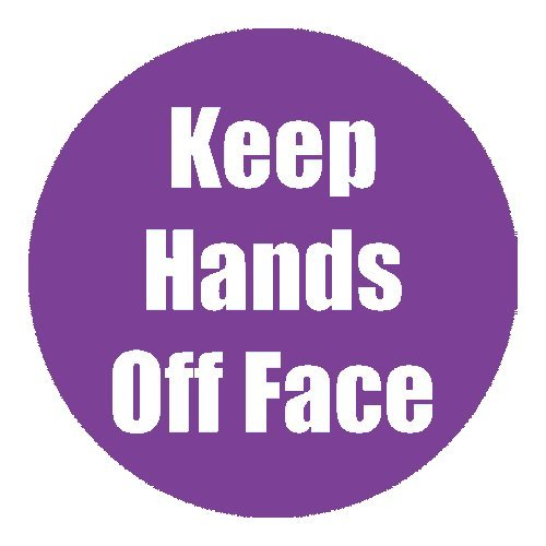"Flipside ""Keep Hands Off Face"" Purple 11"" Round Non-Slip Floor Stickers - 5pk (FS-97090) - $50 Image 1"