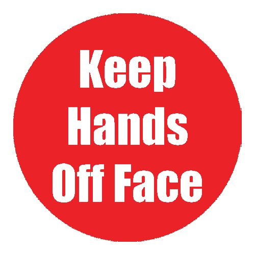 "Flipside ""Keep Hands Off Face"" Red 11"" Round Non-Slip Floor Stickers - 5pk (FS-97084) - $50 Image 1"