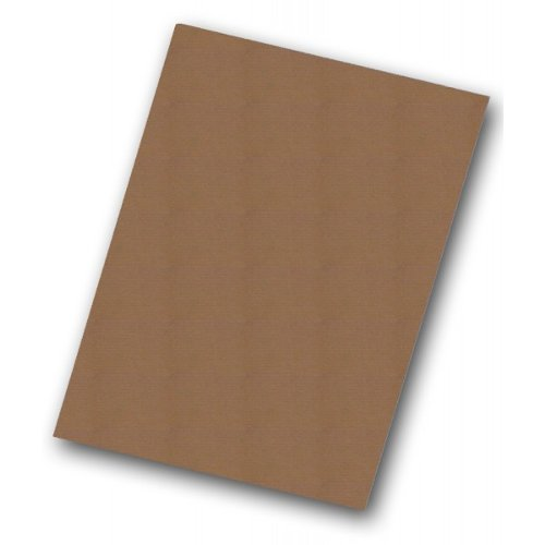 "Flipside 32"" x 40"" Kraft Corrugated Cardboard Project Sheets (E-Flute) - 50pk (FS-32404)"