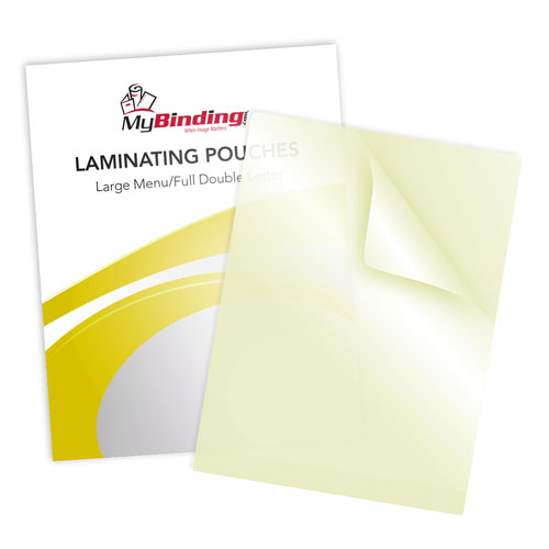Large Menu Size Sticky Back Laminating Pouches Image 1